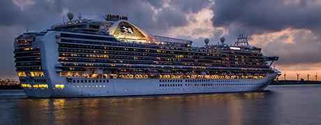 Crown Princess doet Rotterdam aan